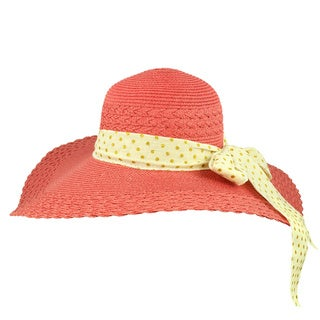 Faddism Women's Rose Pink Floppy Hat