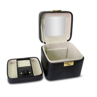 Morelle Black Leather Small Jewelry Box