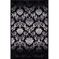 Transitional Floral Gray/ Black Rug (5' x 7'6)