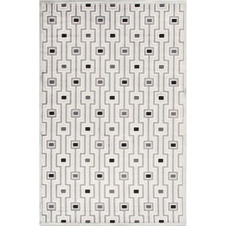 Contemporary Geometric Gray/ Black Rug (5' x 7'6)