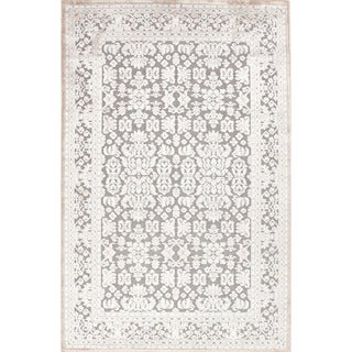 Transitional Oriental Pattern Blue Rug (5' x 7'6)