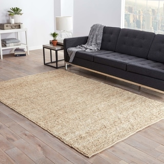 Hand-woven Naturals Solid Pattern Ivory Rug (5' x 8')