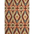 Hand-tufted Transitional Tribal Pattern Red/ Orange Rug (5' x 7'6)