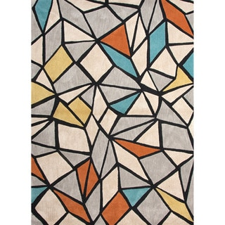Hand-tufted Contemporary Geometric Pattern Multi Rug (5' x 7'6)