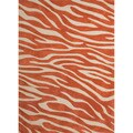 Hand-tufted Contemporary Animal Print Red/ Orange Rug (5' x 7'6)