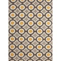 Hand-tufted Contemporary Geometric Pattern Yellow Rug (5' x 7'6)