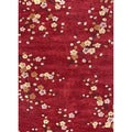 Hand-tufted Transitional Floral Pattern Red/ Orange Rug (5' x 7'6)