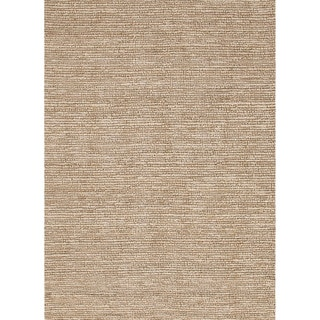 Hand-woven Naturals Solid Pattern Ivory Wool Rug (3'6 x 5'6)