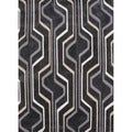 Hand-tufted Contemporary Geometric Gray/ Black Rug (3'6 x 5'6)