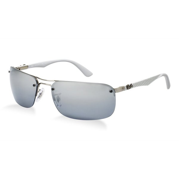 Ray-Ban 'Tech' RB8310 Polarized Shiny Gunmetal Sunglasses