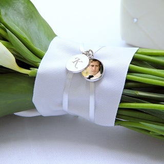 Bridal Bouquet Locket Charm and Keepsake Bracelet