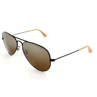 Ray-Ban Men's Large Aviator Black Sunglasses