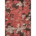 Hand-tufted Transitional Floral Pattern Brown Area Rug (9'6 x 13'6)