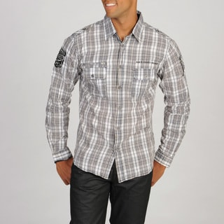 Black Hearts Brigade Men's Plaid Woven Shirt