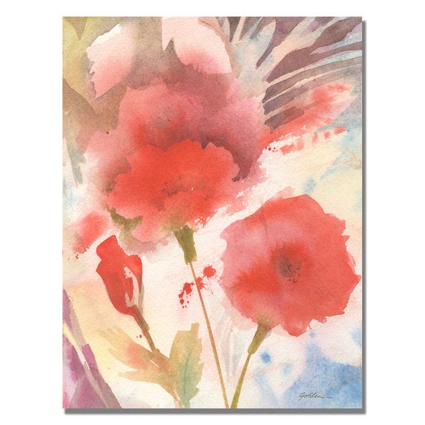 Shelia Golden 'Red Echo' Canvas Art