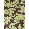 Hand-tufted Transitional Abstract Pattern Brown Rug (5' x 8')