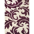 Hand-tufted Transitional Abstract Pink/ Purple Rug (2' x 3')
