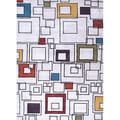 Hand-tufted Contemporary Abstract Pattern Ivory Rug (9'6 x 13'6)
