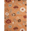 Hand-tufted Transitional Floral Pattern Red/ Orange Rug (2' x 3')