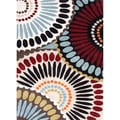 Hand-tufted Contemporary Abstract Pattern Multi Rug (5' x 8')