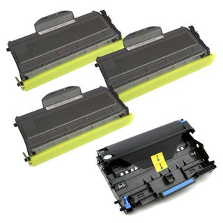 Brother TN360 Compatible Black Toner Cartridges and 1 DR360 Drum Units (Pack of 4)