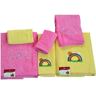 Lucia Minelli 6-piece Butterfly/ Rainbow Embroidered Luxury Turkish Towel Set
