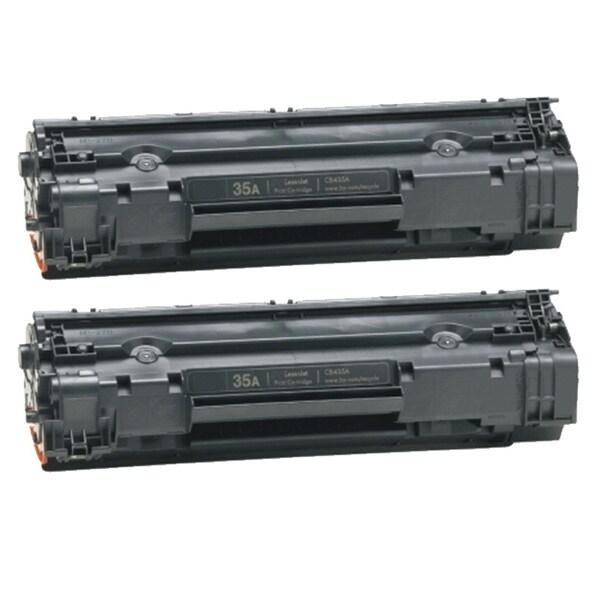 HP CB435A (35A) Black Compatible Laser Toner Cartridge (Pack of 2)