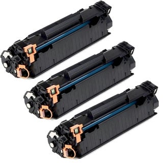 HP CE285A (85A) Black Compatible Laser Toner Cartridge (Pack of 3)