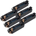 HP CE285A (85A) Black Compatible Laser Toner Cartridge (Pack of 6)