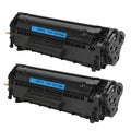 HP Q2612A (12A) Black Compatible Laser Toner Cartridge (Pack of 2)