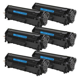 HP Q2612A (12A) Black Compatible Laser Toner Cartridge (Pack of 6)