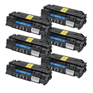 HP Q7553A (53A) Black Compatible Laser Toner Cartridge (Pack of 6)
