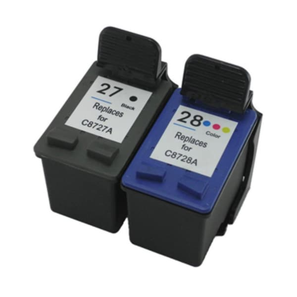 HP C8727AN+C8728AN (HP 27+28) Black+Color Compatible Ink Cartridge