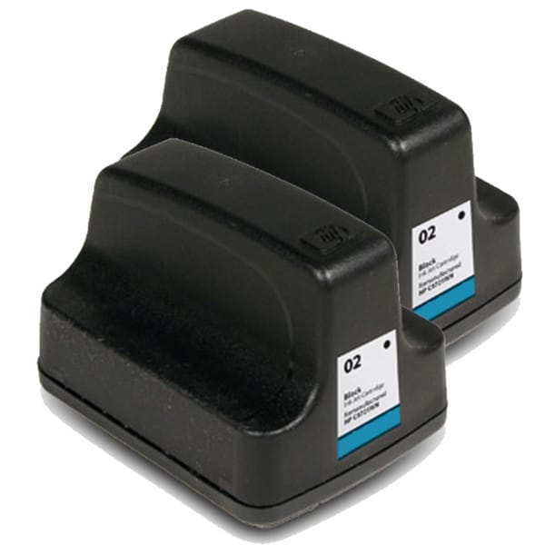 HP 02 (C8721WN) Black Ink Cartridge (Pack of 2)