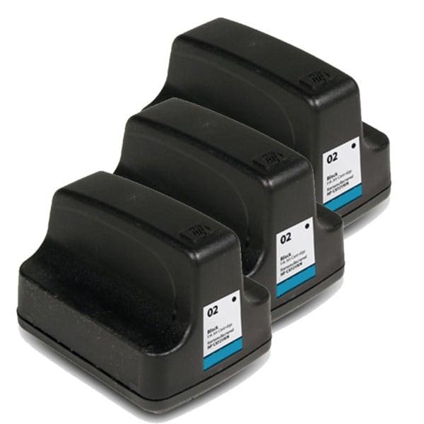 HP 02 (C8721WN) Black Ink Cartridge (Pack of 3)