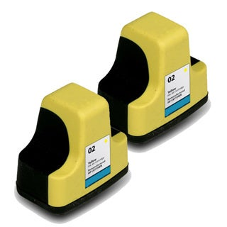 Remanufactured HP 02 C8773WN Yellow Ink Cartridges (Pack of 2)