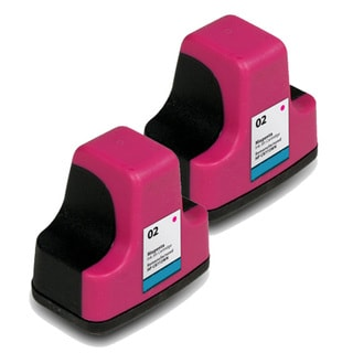 Remanufactured HP 02 C8772WN Magenta Ink Cartridges (Pack of 2)
