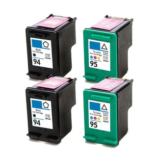 HP 94 (C8765WN)+ 95 (C8766WN) Black+Color Compatible Ink Cartridge (Pack of 4)