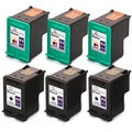 HP 92 (C9362WN) + 93 (C9361WN) Black+Color Compatible Ink Cartridge (Pack of 6)