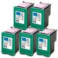 HP 95 (C8766WN) Tri-Color Compatible Ink Cartridge (Pack of 5)