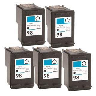 HP 98 (C9364WN) Black Compatible Ink Cartridge (Pack of 5)