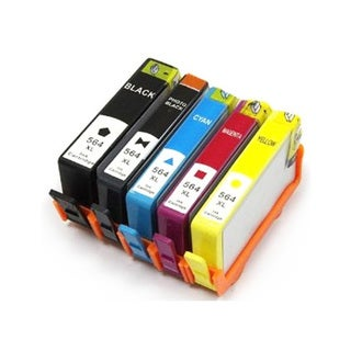 HP 564 XL Black and Color Compatible Ink Cartridges (Pack of 5)