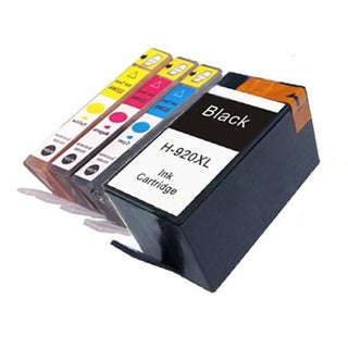 HP 920XL Black/ Color Compatible Ink Cartridge Set (Pack of 4)