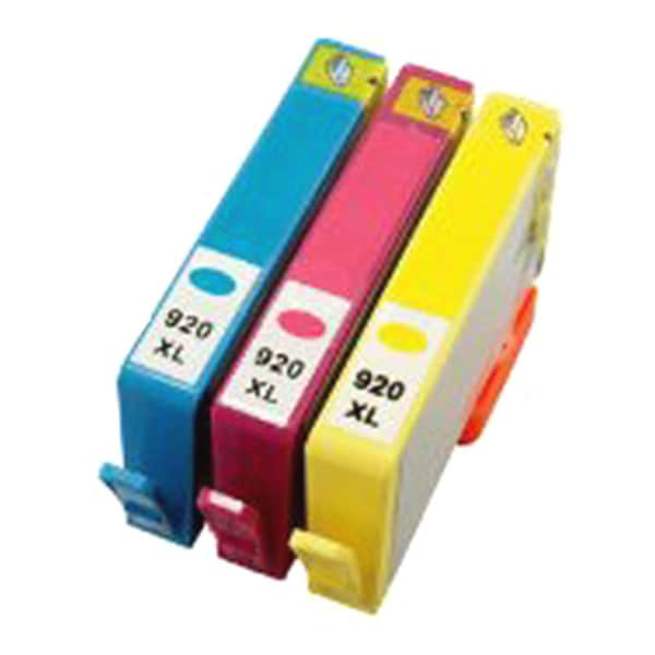 HP Compatible 920XL/ Officejet 6000 Cyan/ Magenta/ Yellow Ink Cartridges (Pack of 3)