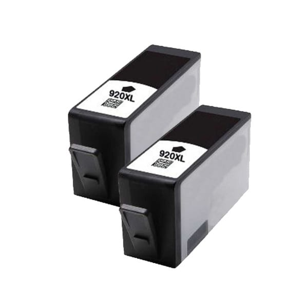 HP 920XL (CD975AN) Black Compatible Ink Cartridge (Pack of 2)