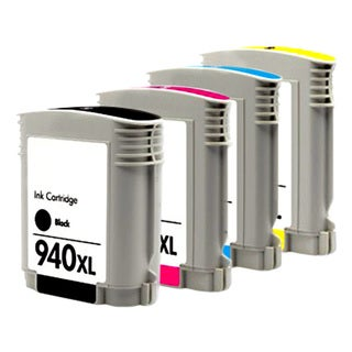 HP 940XL Black/ Cyan/ Magenta/ Yellow Compatible Ink Cartridge (Pack of 4)