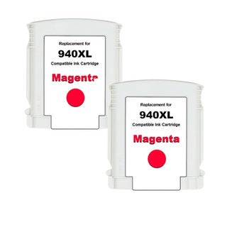 HP 940XL (C4908AN) Magenta High Yield Compatible Ink Cartridge (Pack of 2)