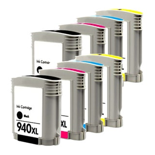 HP 940XL Black/ Cyan/ Magenta/ Yellow Compatible Ink Cartridge (Pack of 8)