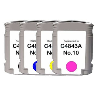 HP 10 Black/ Cyan/ Yellow/ Magenta High Yield Compatible Ink Cartridge (Pack of 4)
