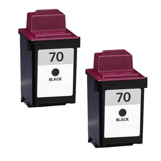 Lexmark 70 Black Compatible Ink Cartridges (Pack of 2)